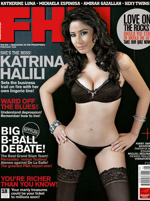 Katrina Halili is FHM Philippines' February 2008 Cover Girl. Wow