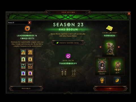 Diablo 3 Season 23 Patch 2.7